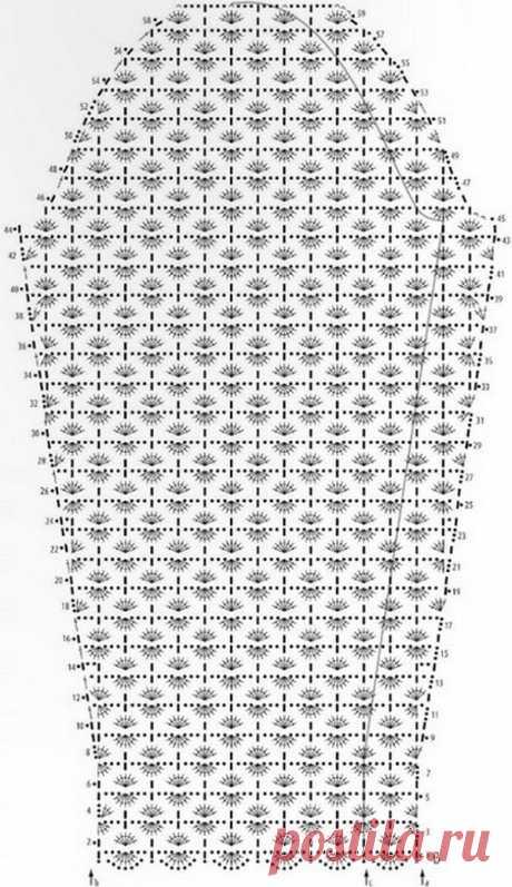 Пуловер крючком - схемы