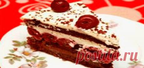 Простой торт с вишней