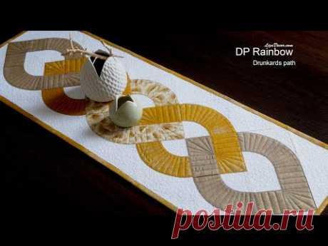 "DP Rainbow - Additional help for patchwork template Drunkards path 4,5 "" Tutorial LizaDecor.com"
