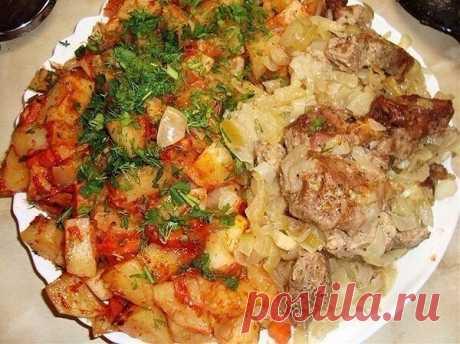 """""""Шашлык"""" с наивкуснейшей картошечкой, приготовленные в духовке   OK.RU"""
