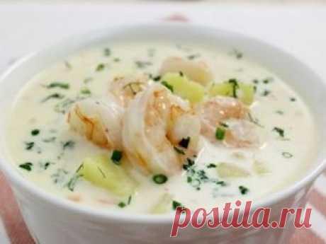Самым привередливым едокам! Сырный суп с креветками — Едим дома