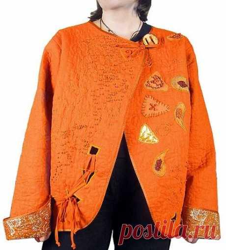 Симпатичная одёжка из кусочков ткани. Летняя куртка в технике пэчворк и квилтинг   Вертолет на пенсии   Яндекс Дзен