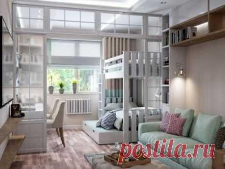 Гостиная и детская в одной комнате (16 фото), дизайн интерьера гостиной совмещенной с детской в одной комнате