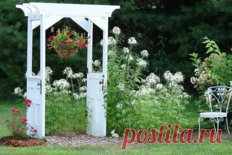 Интересные идеи садового декора из самых простых материалов | Фантазер | Яндекс Дзен
