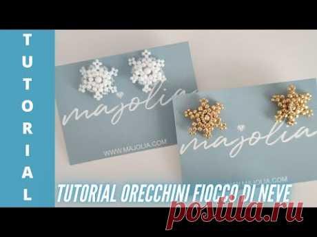 DIY Tutorial Orecchini Snowflake Fiocco di neve