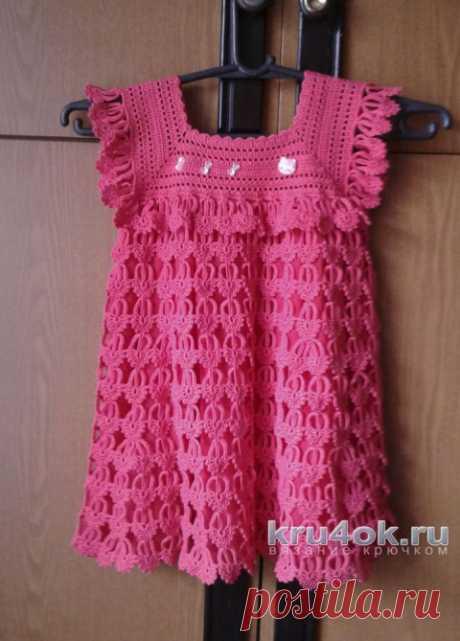 Lетское платье Перо ангела. Крючок.