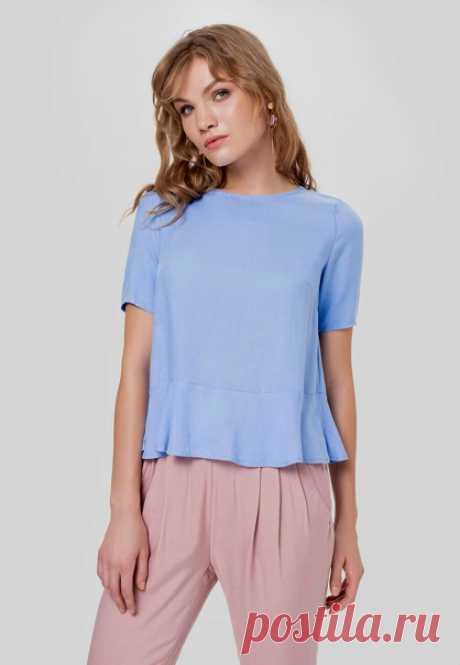 Блузка с короткими втачными рукавами и баской. Подойдет выкройка от Marlene Mukai на размеры с 36 по 50 (евр.). Подборка фото Шитье   простые выкройки   простые вещи #простыевыкройки #простыевещи #шитье #блуза #блузка #выкройка