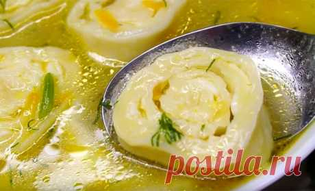 Начиняем галушки сыром и запускаем в бульон: начинка супа на замену лапше