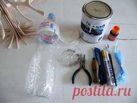 Снежинки из бутылок | Мастер классы | рукоделие, декор, полимерная глина, плетение, вышивание
