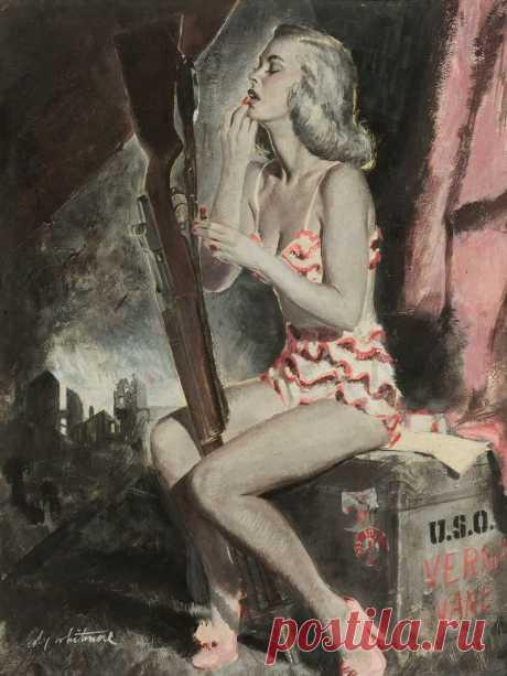 Давай уедем!..Американский иллюстратор Coby Whitmore (1913-1988)