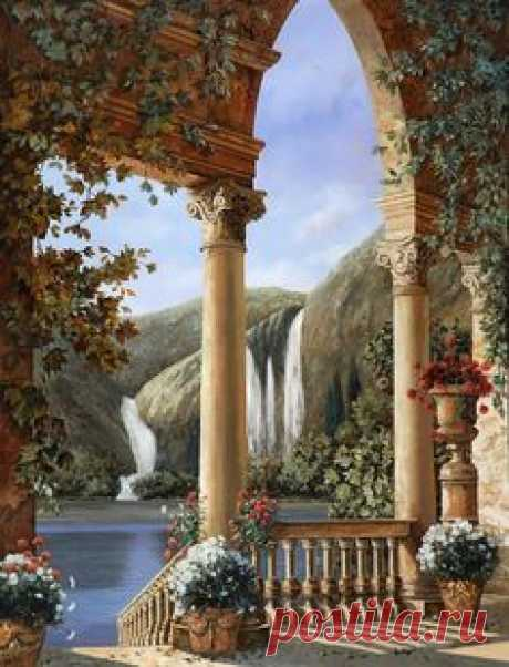 Купить картину по номерам «Вид на водопад» по выгодным ценам в Москве