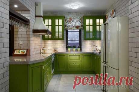 Зеленый кухонный гарнитур: особенности выбора, сочетания