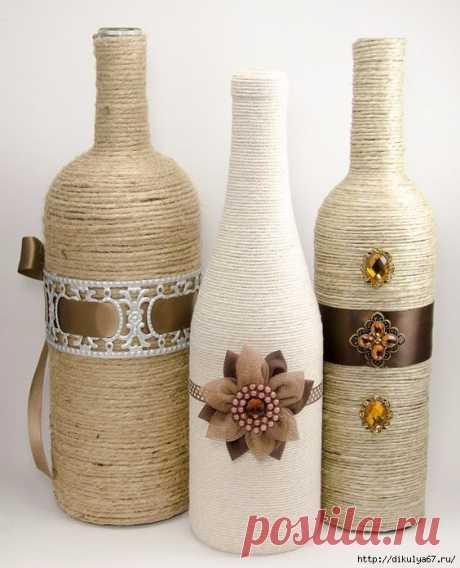 декор бутылок, стаканов, баночек... | Записи в рубрике декор бутылок, стаканов, баночек... | МОЙ МИР