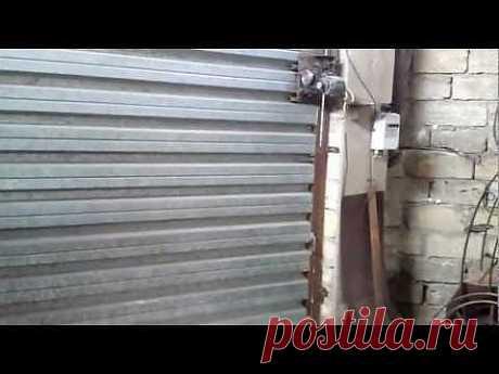 самодельные гаражные ворота Подъемно-поворотные - Яндекс.Видео
