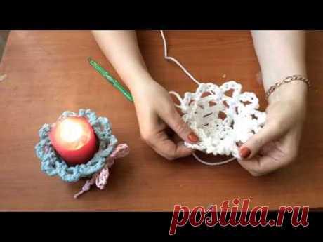 Вязанный подсвечник, основа своими руками на канале DIY/рукоделие
