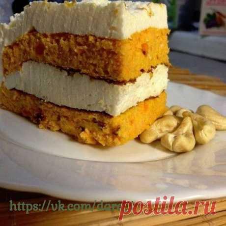 Морковно-творожный торт. Максимум пользы при минимуме калорий и никакого вреда для фигуры. на 100грамм - 152.66 ккалБ/Ж/У - 20.89/4.15/7.68  Ингредиенты: Для коржа: Показать полностью…