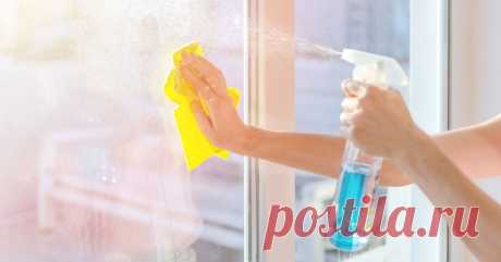 Как отмыть пластиковые окна.