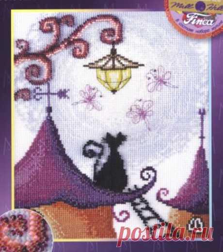 Мотыльки- схема для вышивки крестом
