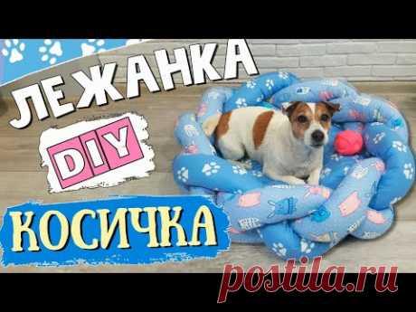 Лежанка для собаки своими руками/Оригинальная ЛЕЖАНКА-КОСИЧКА для вашего питомца