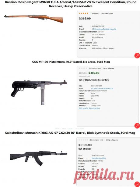 Какое оружие покупают американцы в 2020 году? И какое оружие хотят, читайте в источники.