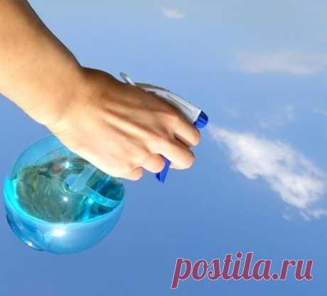 Вода + уксус очищает  ВСЁ!
