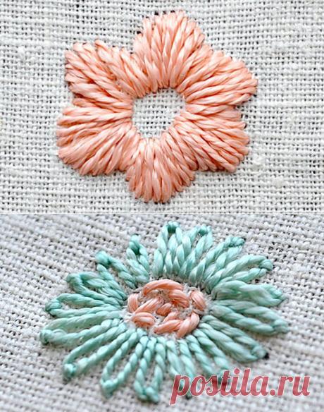 Вышивка цветов для начинающих: 5 мастер-классов