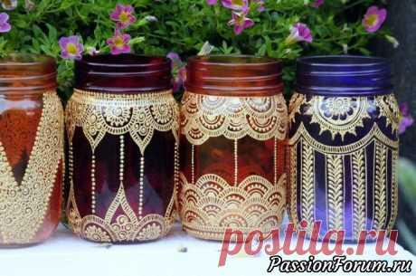 Фонарики и вазы для дачи витражными красками - запись пользователя Vera (Vera) в сообществе Болталка в категории Интересные идеи для вдохновения