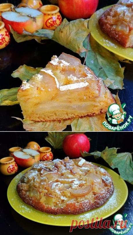 """Пирог """"Мало теста, много яблок"""" - кулинарный рецепт  =     Яблоко — 600 г     Сахар — 120 г     Мука пшеничная — 180 г     Молоко — 100 мл     Яйцо куриное — 3 шт     Ванилин — 1 пакет.     Разрыхлитель теста — 10 г     Цедра мандарина — 2 ч. л.     Масло сливочное — 50 г"""