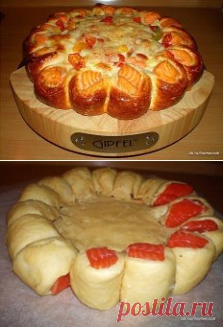 Красивый рыбный пирог!