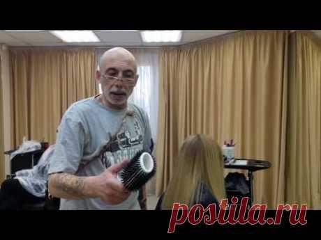 Урок от Вартана Болотова как правильно сушить волосы феном и брашем