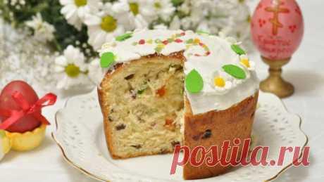 Пасхальный кулич без замеса - Простые рецепты Овкусе.ру