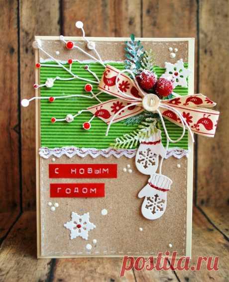 новогодние открытки в экостиле скрапбукинг– Google Поиск