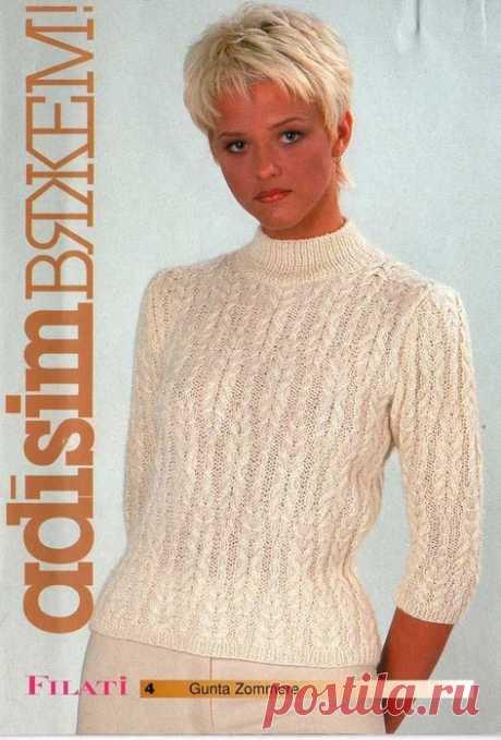 Пуловер с красивым узором - Сундук сокровищ - медиаплатформа МирТесен
