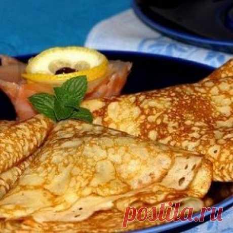 Тонкие ажурные блинчики с кипятком рецепт – выпечка и десерты