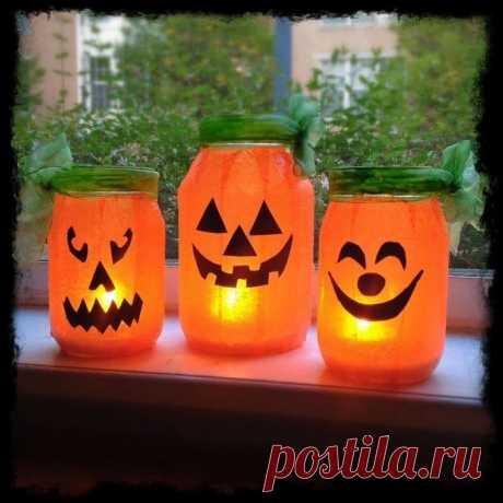 670b04278f3c7438660889066fb24ca6--cheap-halloween-decorations-mason-jar-pumpkin.jpg (700×700)