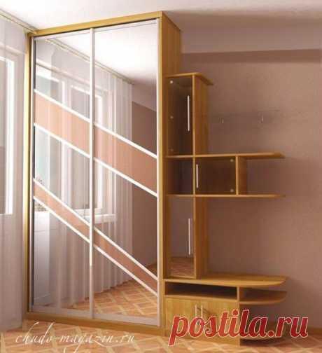 Шкаф купе небольшой в спальню на заказ в Москве и области