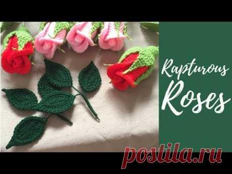 Вязание крючком маленькая Роза-часть 3