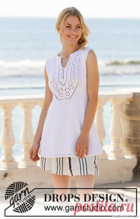 Туника «Белая жемчужина» | Вязание для женщин спицами. Схемы вязания спицами
