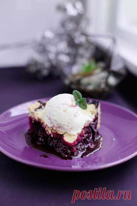 Рецепт из к/ф «Мои черничные ночи»: Черничный пирог.