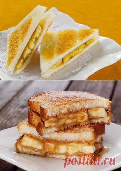 Сладкие сэндвичи – простой и приятный завтрак! / Простые рецепты