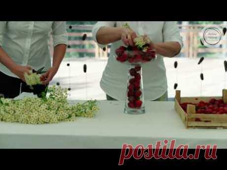 Мастер-класс Марины Петровой: оформление клубнично-ромашковой свадьбы
