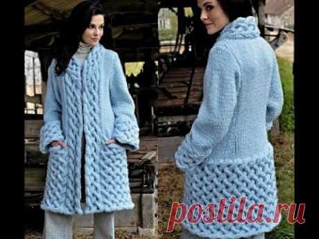 Самый стильный и модный узор для пальто-Мастер класс.