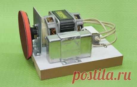 Простой самодельный шлифовальный станок из двигателя электромясорубки