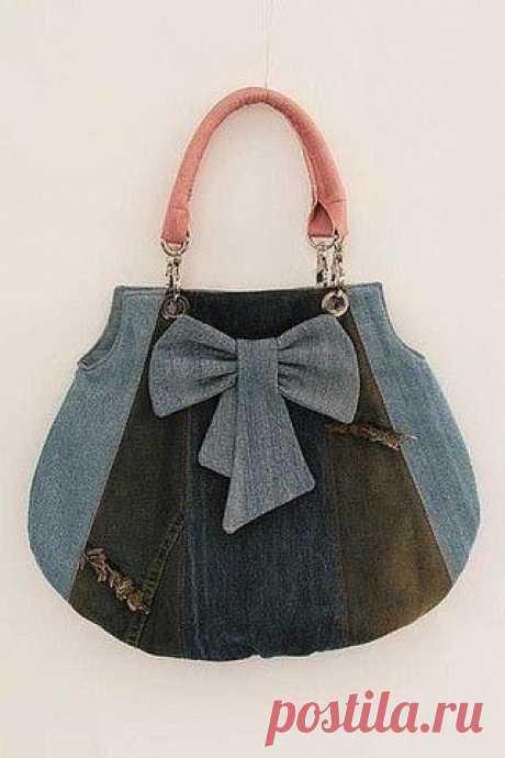 Мастер-класс: сумочка из джинсовой ткани