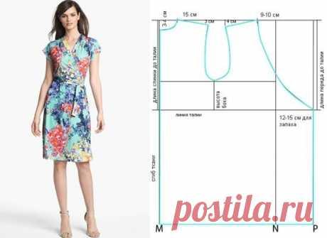 Простая выкройка халата с запахом (Шитье и крой) — Журнал Вдохновение Рукодельницы