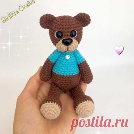 1000 схем амигуруми на русском: Маленький медведь крючком