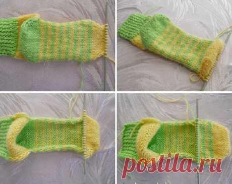 Вязание без затей: носки на двух спицах без швов. У меня получилось. - Журнал Советов