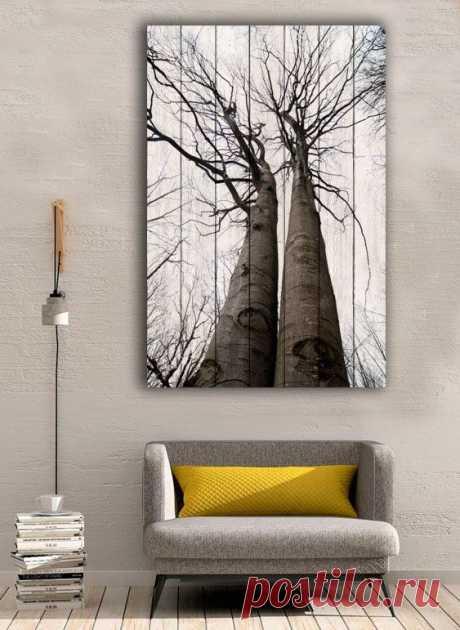 """Картина """"Два дерева"""" по цене от 5900 руб. Размеры: 60x90 см, 80x120 см, 100x150 см, 120x180 см. Срок изготовления: 2-3 дня."""