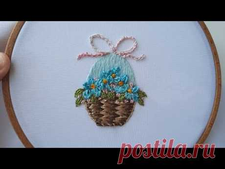 Easter Embroidery | How to embroider an Easter egg