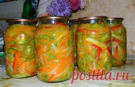 Салат из зелёных помидоров - пальчики оближешь! / заготовки на зиму / 7dach.ru